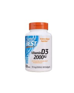 Doctor's Best - Vitamine D3 (2000IU) - 180 soft gels