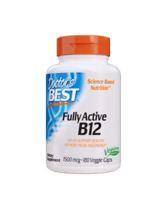 Doctor's Best - Fully Active B12- 180 caps. (1500mcg)