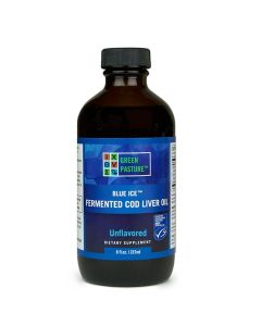 Green Pasture BLUE ICE™ gefermenteerde levertraan, Reguliere smaak – 237 ml
