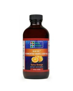 Green Pasture Blue Ice - Fermented Skate Liver Oil – Spicy Orange (237ml)