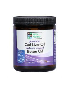Green Pasture - Fermented Cod Liver Oil / Butter Oil Blend - 188ml Gel (Cinnamon)