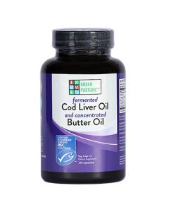 Green Pasture - Fermented Cod Liver Oil / Butter Oil Blend - 120 Capsules