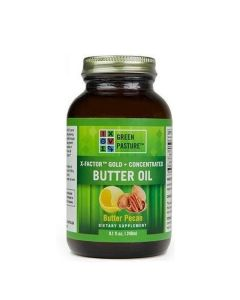 Green Pasture High Vitamin Boterolie - X-Factor gold - 237 ml Pecan Boter