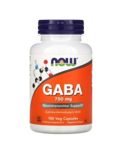 Now Foods - Gaba - 100 V-Caps (750 mg)