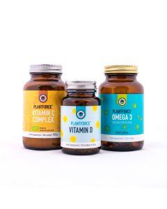 I Feel Vegan Fine Pakket - Vitamine C complex - Vitamine D - Omega 3 Vegan