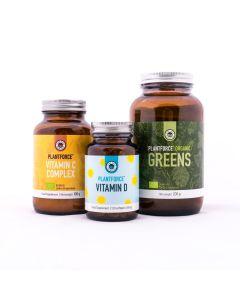 Plantforce - Immuun Pakket - Vit C Complex - Vitamin D - Greens