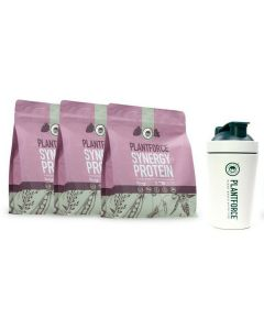 Plantforce - Synergy Protein (Berry) - 3 bags + Free Plantforce Shaker