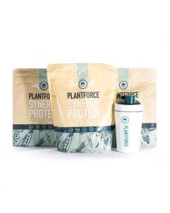 Plantforce - Synergy Protein Vanilla - 3 bags + Free Plantforce Shaker