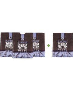 Plantforce - Synergy Proteïne Chocolade - 800 g - 3+1 gratis