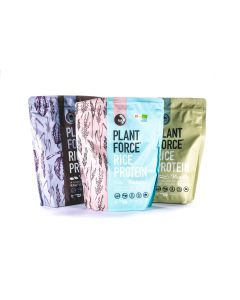 Plantforce - Rijst Proteine - 3 smaken Combinatie - 3 x 800 gram