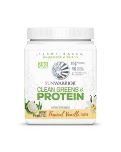 Sunwarrior - Clean Greens & Protein - Tropical Vanilla - 175 g
