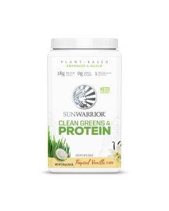 Sunwarrior - Clean Greens & Protein Tropical - Vanilla - 750 Gram