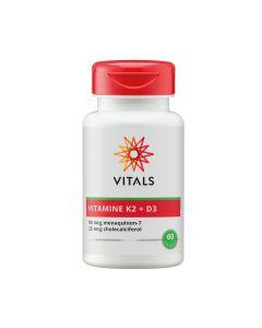 Vitals - Vitamin K2 (90 mcg) with Vitamin D3 (25 mcg) - 60 capsules