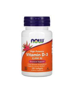 NOW - Vitamin D-3 - 2000IU - 120 softgels